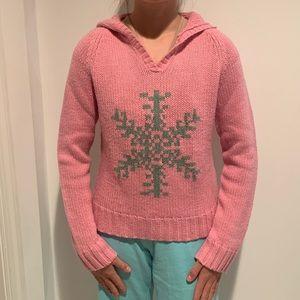 Snowflake sweater hooded